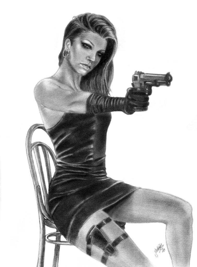 Isabella with Gun