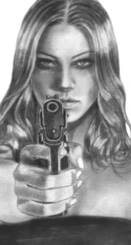 Isabella-aiming-gun-into-camera
